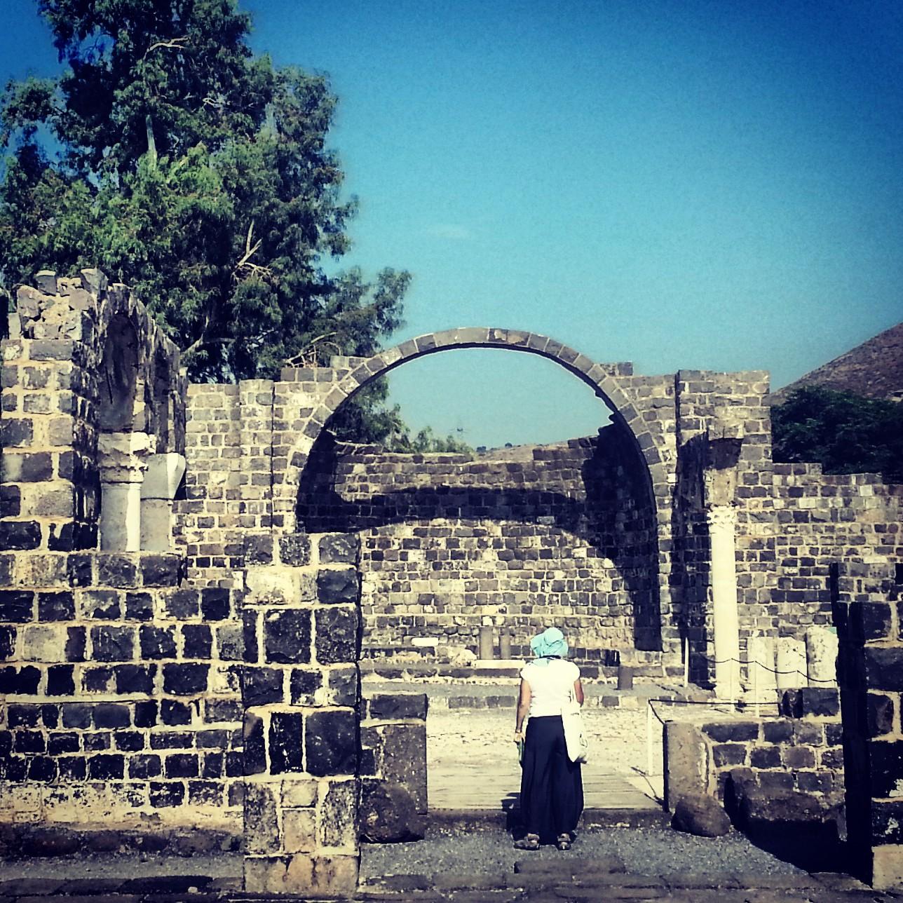 Byzantine church ruins at Kursi