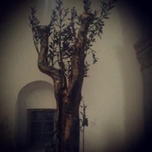 Sculpture inside the Last Supper Room (Cenacle) in Jerusalem