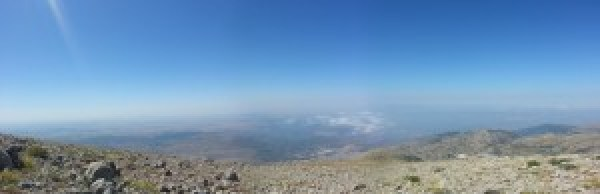View over the Golan Heights from Mount Hermon