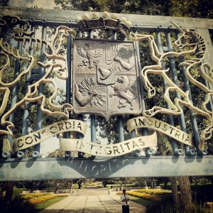 Rothschild coat of arms at Ramat Hanadiv Park