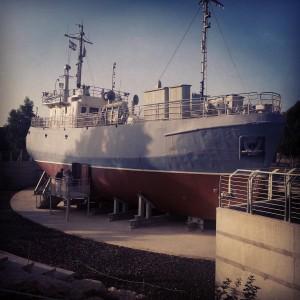 Reconstruction of a 'maapilim' ship at Atlit