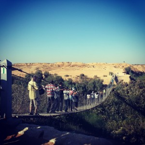 Hanging Bridge over Nachal Besor