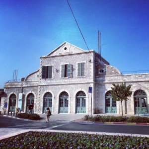 Original building of the Jerusalem train station
