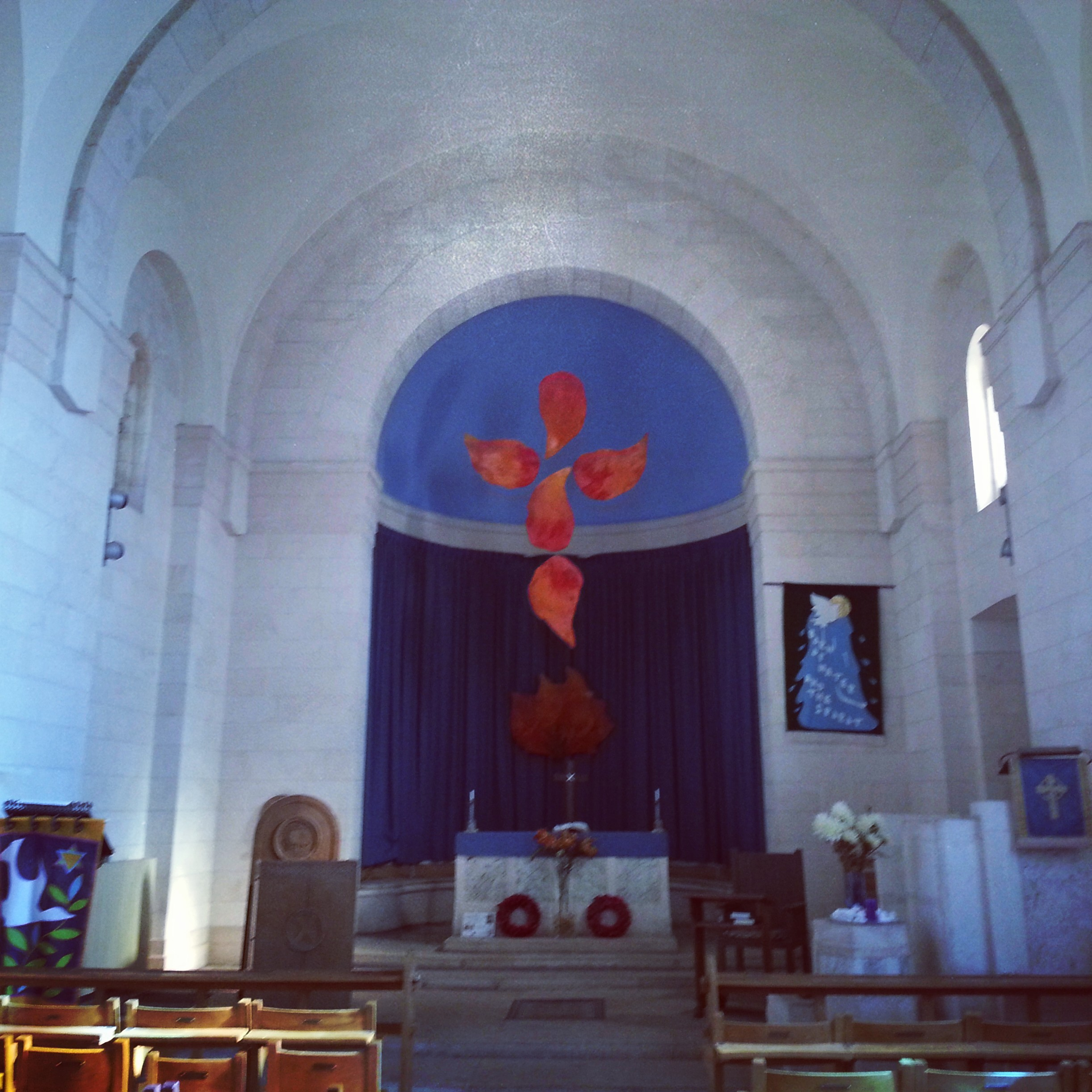 Inside St Andrew's Church, Jerusalem