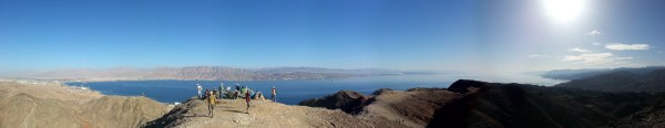 View from Mt Tzefachot over the Eilat bay