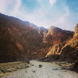 Hiking through Canyon Shechoret