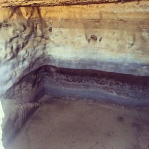 Huge cistern at Masada