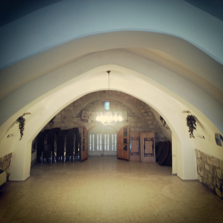 Inside the former 'ancient' synagogue at Motza