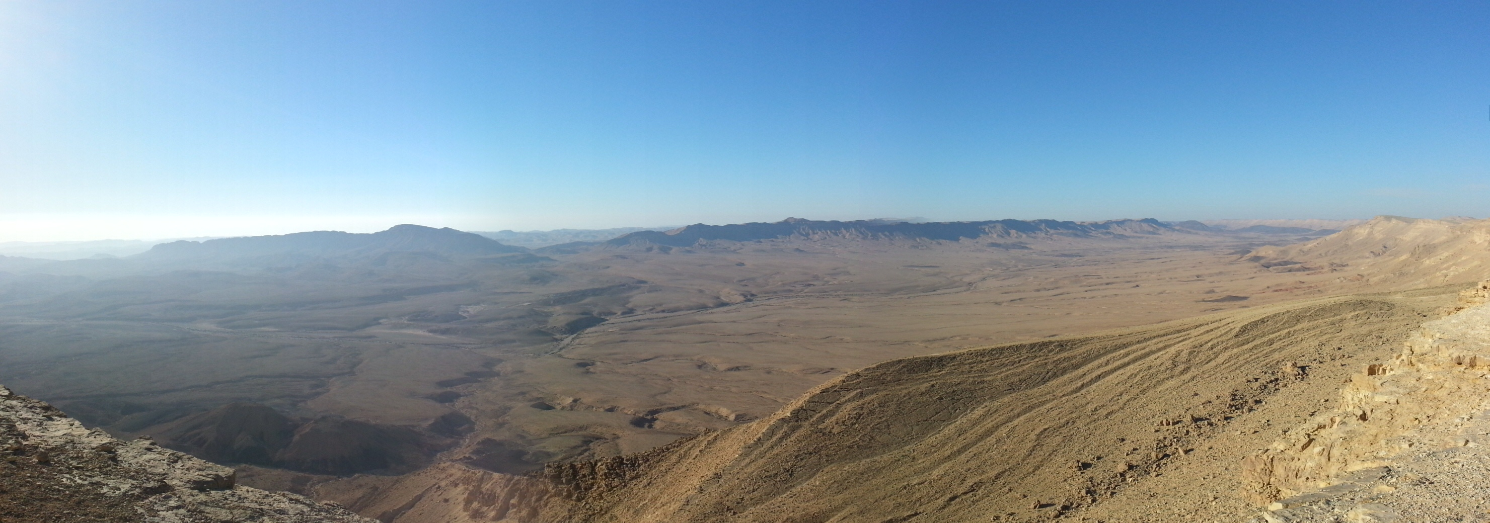 View over the Ramon Crater / Makhtesh Ramon from our field school accomodation