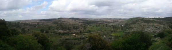 View over the biblical landscape of Neot Keduim