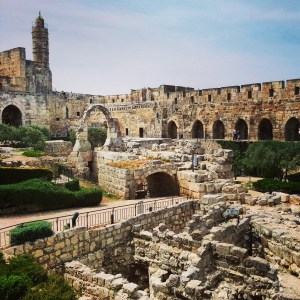 Excavations inside the Tower of David