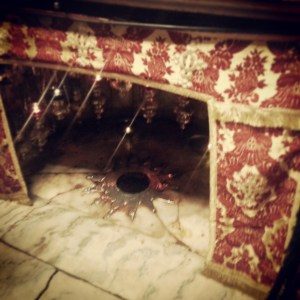 The site of Jesus' birth in the Church of the Nativity, Bethlehem