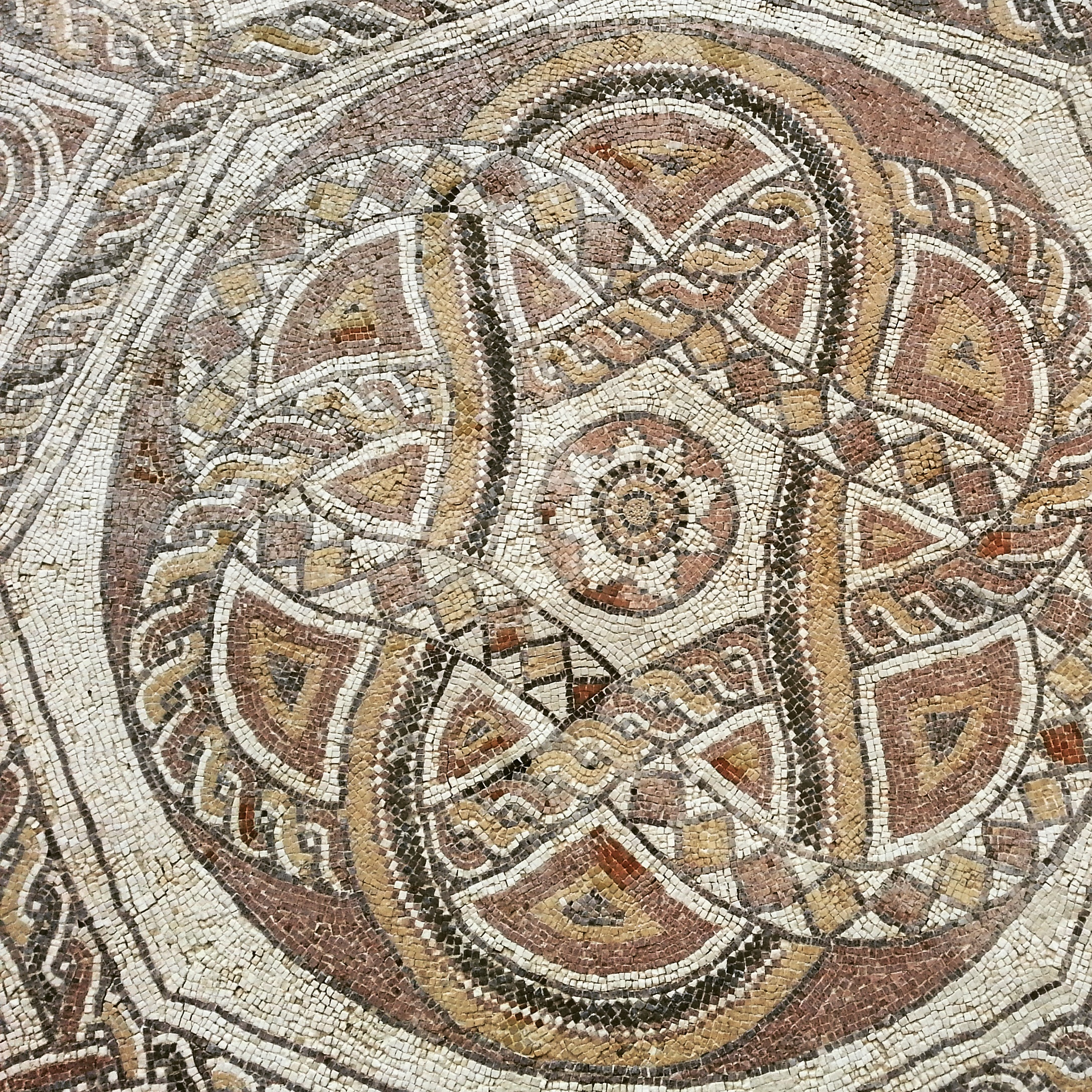 Byzantine period mosaic on display at the Inn of the Good Samaritan