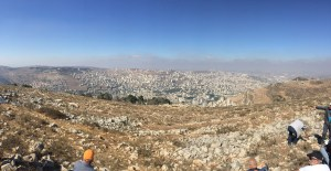 View over Nablus (Biblical Shechem) and Mt Gerizim from Mt Ebal
