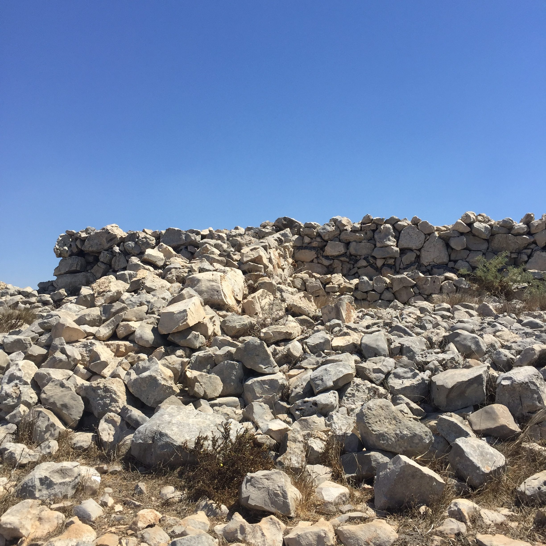 Ramp leading up to the Israelite altar on Mt Ebal