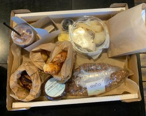 A delicious takeaway breakfast picnic from the Jacobs Dairy and Agadat HaLechem bakery.