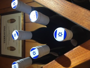 Wine bottles with Star of David MyIsraelWineTours