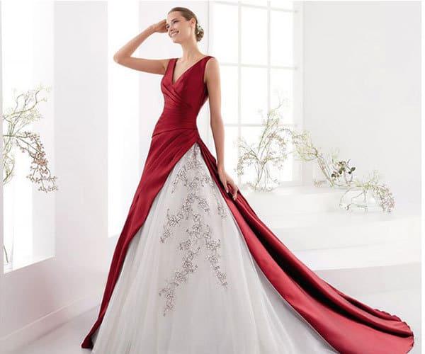 abiti da sposa colorati rosso