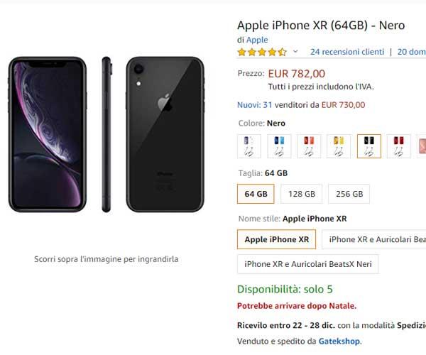 iPhone xr da acquistare