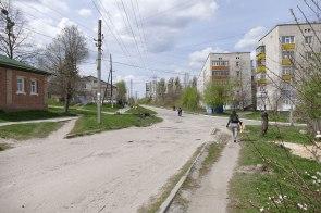 Улица Капитана Орлова в сторону центра города Изюм