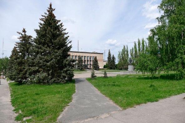 Горисполком на Центральной площади в Изюме
