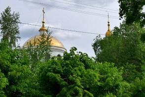 Крестовоздвиженская церковь - золотые купола