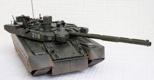 Оплот Т-84 модель вид сверху, спереди