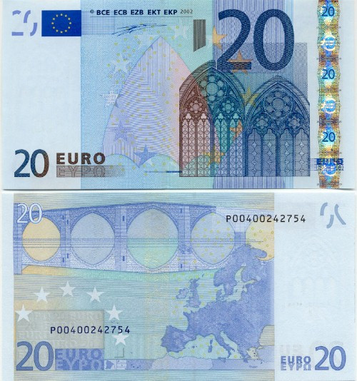 Новая банкнота 20 евро