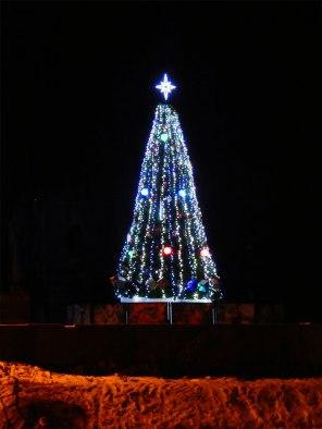 Иллюминация на главной елке Изюма