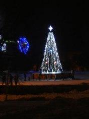 Праздничная новогодняя елка в центре Изюма