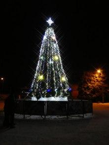 Красавица елка на Центральной площади Изюма