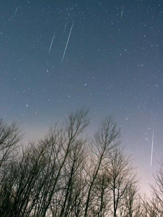 Наблюдаем в ночь на 4-е января метеорный поток