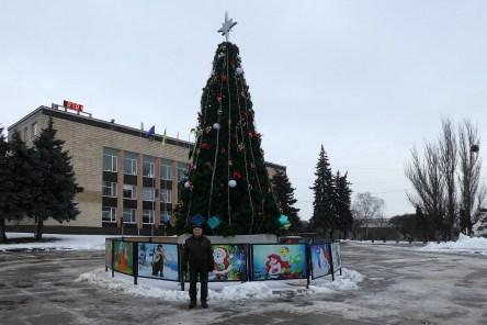 Борис Иванович Мосюр у главной елки города