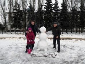 Борис Мосюр принял участие в создании шедевра из снега