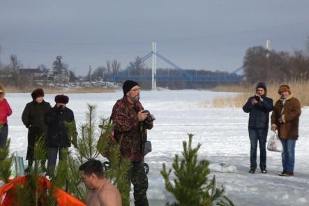 Юрий Золотоверхий за работой на празднике Крещения 19 января 2017 года