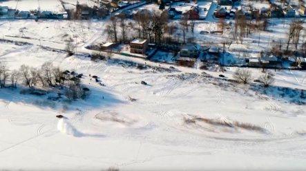 На льду Северского Донца