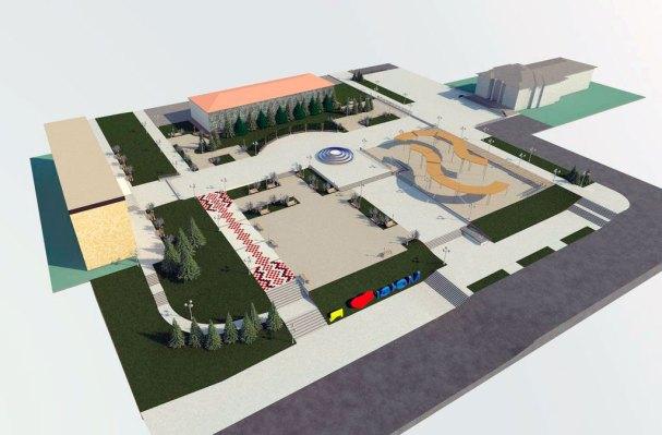 План реконструкции Центральной площади Изюма