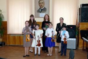 Участники концерта скрипичной музыки «З Україною в серцi»