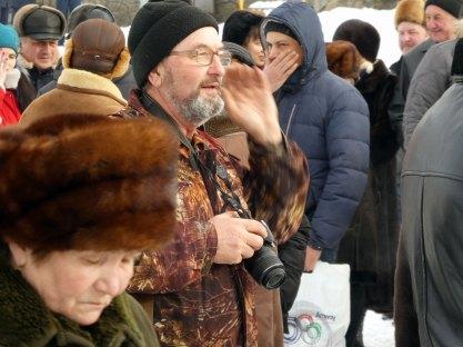 Юрий Золотоверхий за работой