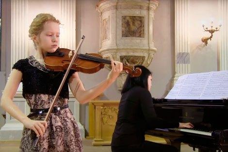 София Уланова исполняет Испанский танец №5 (скрипка)
