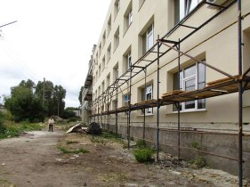 В Изюмской ЦГБ продолжается капитальный ремонт