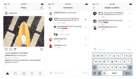В Instagram теперь более наглядно отображены ответы на комментарии.