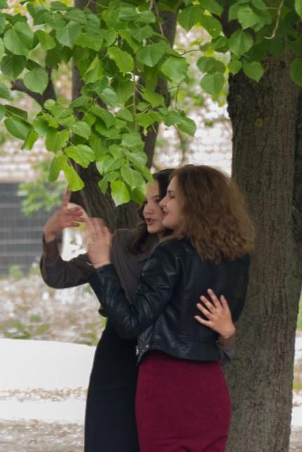 Фото на память - Лиза Новак и София Черная