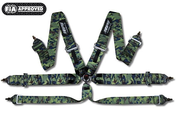 Hpi 6 Points Racing Seat Harness Camouflage Left