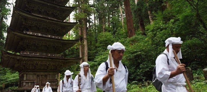 With the Yamabushi from Yamagata