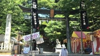 三国祭りの通りをウォーキング