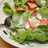 Summer Strawberry-Spinach Salad