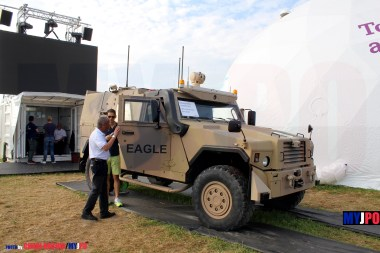 Mowag/RUAG VERO EAGLE IV unmanned vehicle at AIR14, Payerne, September 2014.