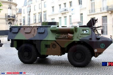 A French Army VAB CHF of the 40e Régiment de Transmissions, Paris, July 14, 2016.