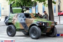 A French Army VBL RECO of the 3e Régiment de hussards (3e RH), Paris, July 14, 2016.